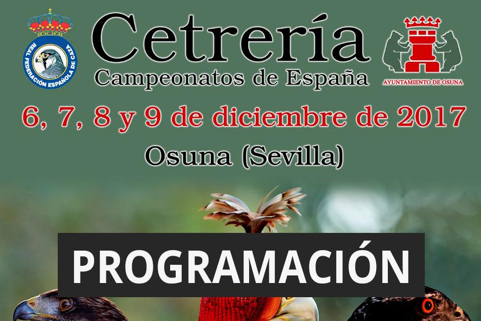 Programación Campeonato de España 2017